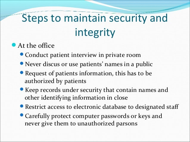 importance of patient confidentiality All parts of the nhs need to establish working practices that effectively deliver the patient confidentiality that is required by law, ethics and policy.