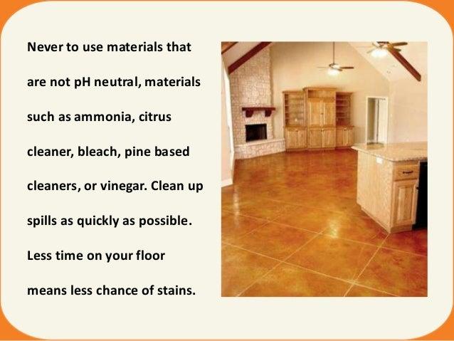 Maintain polished concrete floors concrete solutions for Vinegar on concrete floor