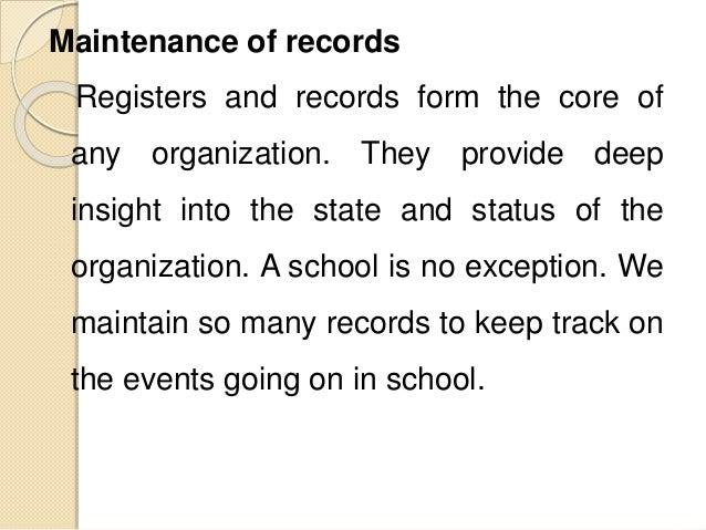registers for schools