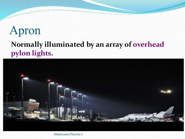 Apron Maitenance Practice-1 Normally illuminated by an array of overhead pylon lights.