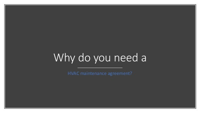 Why Do Businesses Need Proactive Hvac Maintenance Agreements