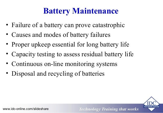 Maintenance and Troubleshooting of Uninterruptible Power