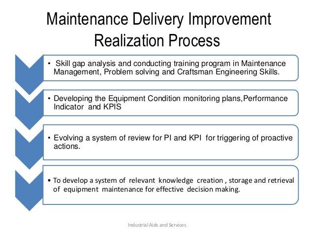 Maintenance delivery improvement presentation