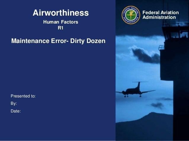 Airworthiness Maintenance Error Dirty Dozen