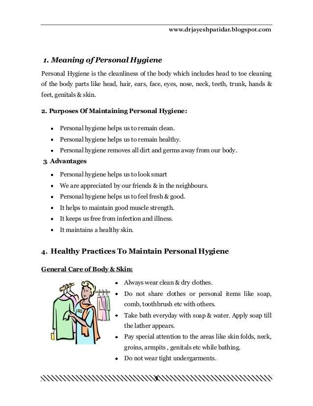 benefits of hygiene