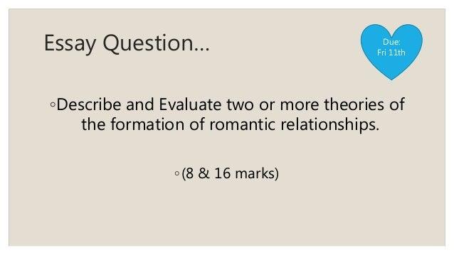 Relationship formation essay