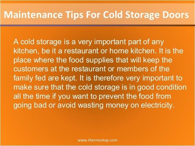 Maintenance tips for cold storage doors Slide 2