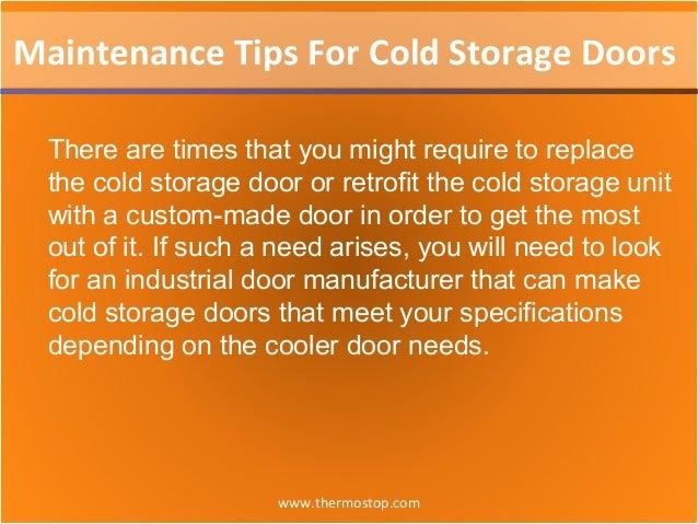 Maintenance tips for cold storage doors Slide 3