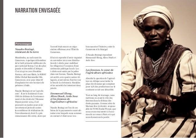 6  Personnages  Nasako Besingi,  résistant de la terre  Mundemba, au sud-ouest du  Cameroun, à quelques kilomètres  de la ...