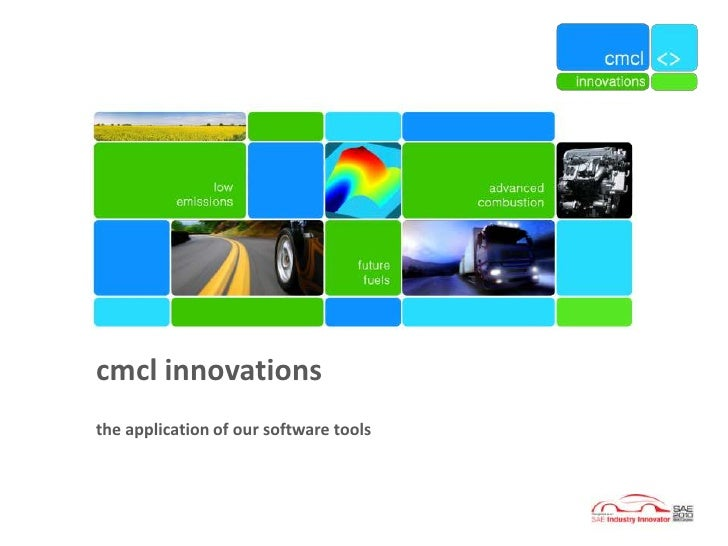 cmcl innovations the application of our software tools
