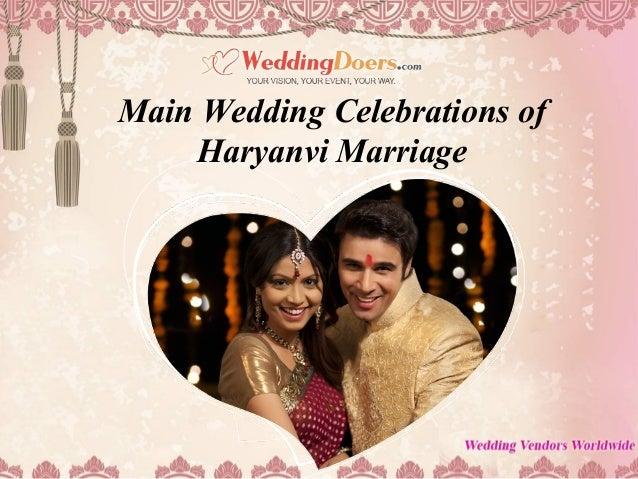 Main Wedding Celebrations of Haryanvi Marriage