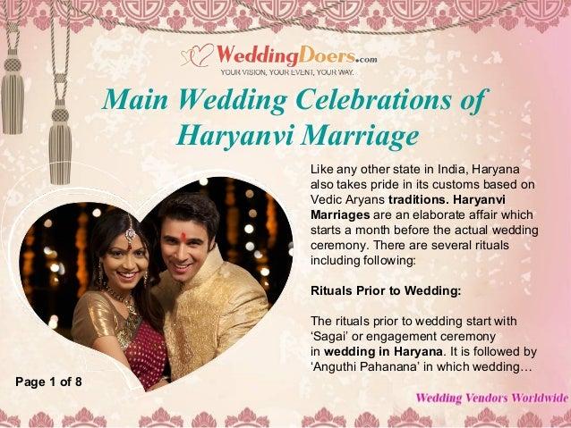 Main wedding celebrations of haryanvi marriage Slide 2