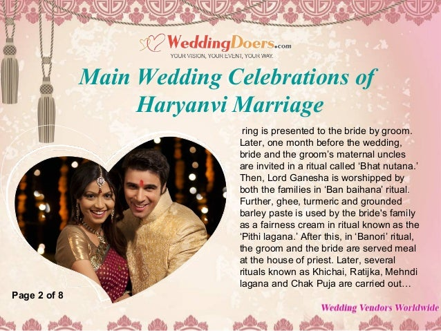 Main wedding celebrations of haryanvi marriage Slide 3