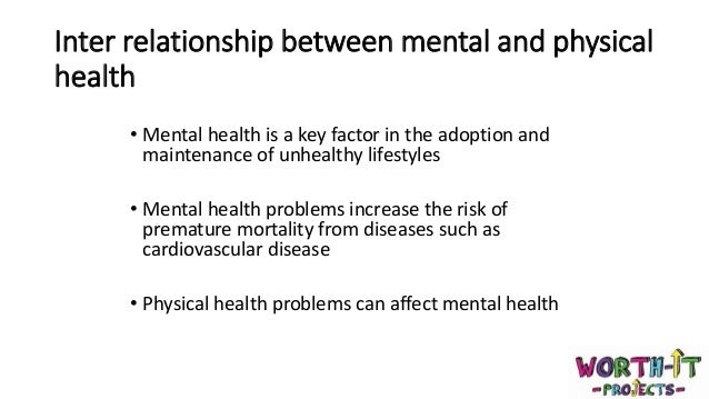 physical health and mental relationship between frequency