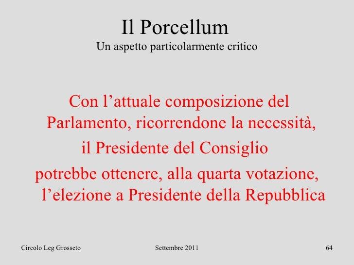 Mai pi con il porcellum for Composizione del parlamento