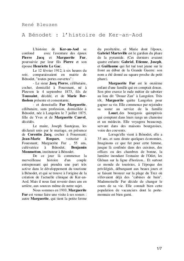 René Bleuzen  A Bénodet : l'histoire de Ker-an-Aod L'histoire de Ker-an-Aod se confond avec l'aventure des époux Pierre Ja...