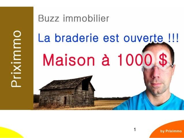 1 Détroit - La Maison à 1000$ by Priximmo Cliquez ici > Abonnez-vous <