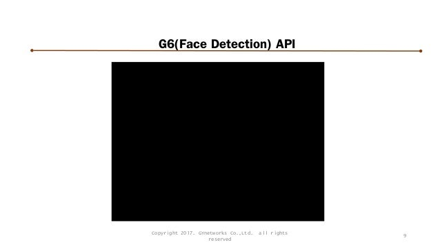 G6(Face Detection) API 9 Copyright 2017. GYnetworks Co.,Ltd. all rights reserved