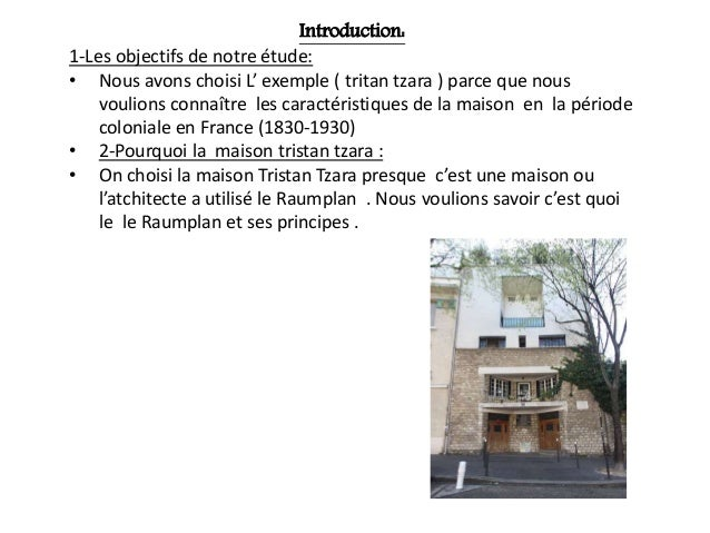 Maison tristan tzara - Plan de maison coloniale ...