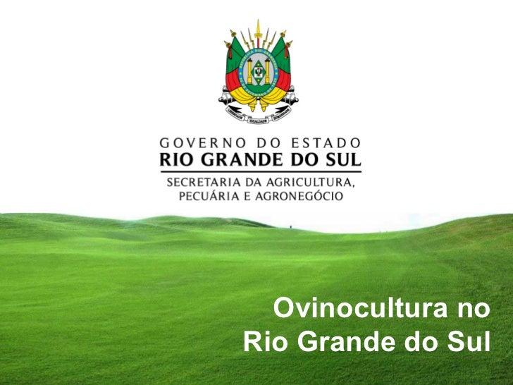Ovinocultura noRio Grande do Sul