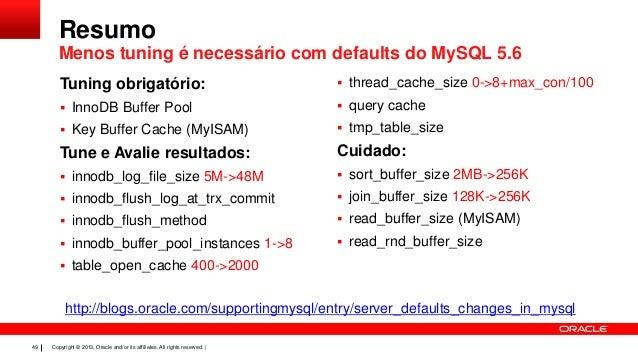 Mais Performance Com O Mysql 5 6