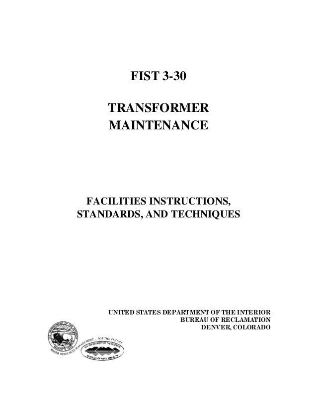 Maitenance of transformer