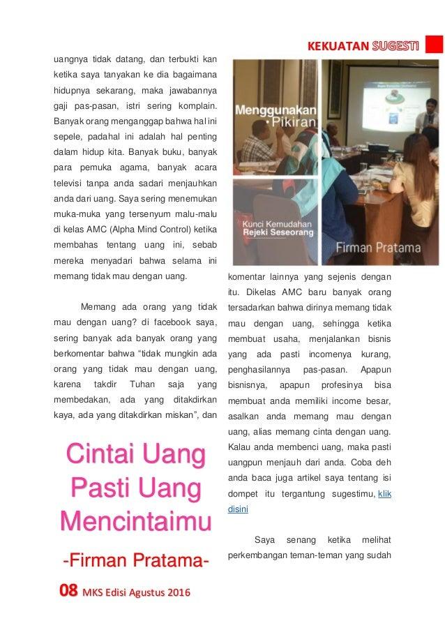 Majalah Kekuatan Sugesti Edisi Agustus 2016