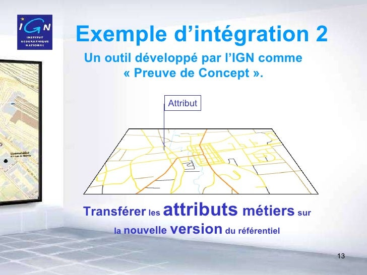 Exemple d'intégration 2 Transférer  les  attributs  métiers  sur la  nouvelle  version  du référentiel Un outil développé ...
