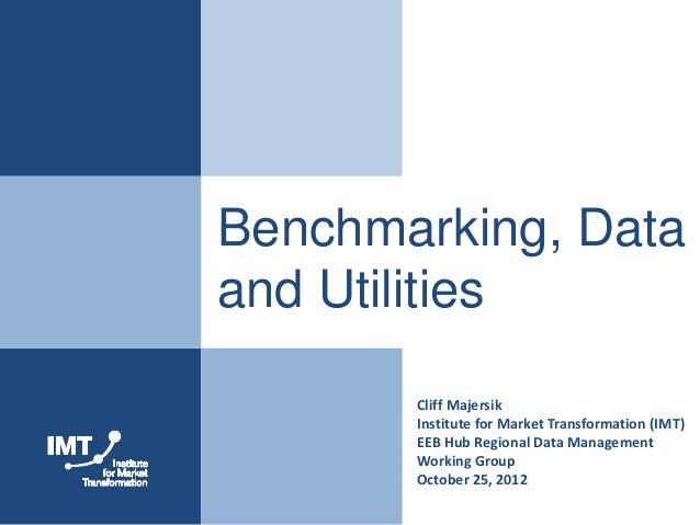 Benchmarking, Dataand Utilities       Cliff Majersik       Institute for Market Transformation (IMT)       EEB Hub Regiona...