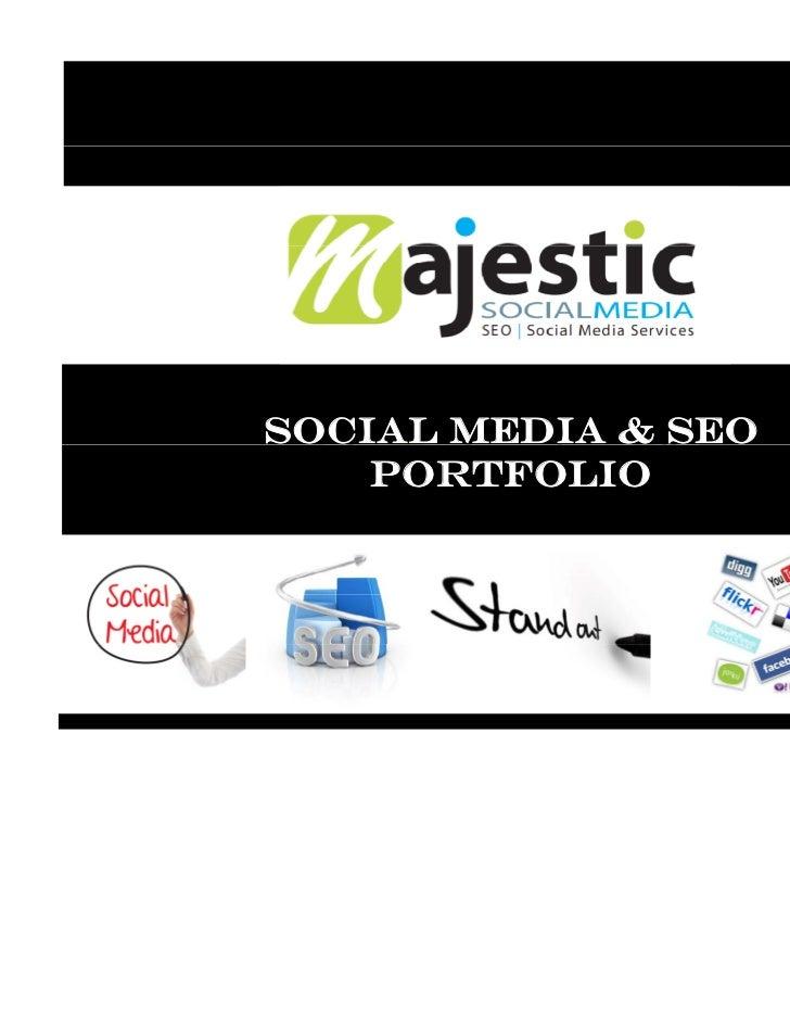 Social Media & SEO    Portfolio