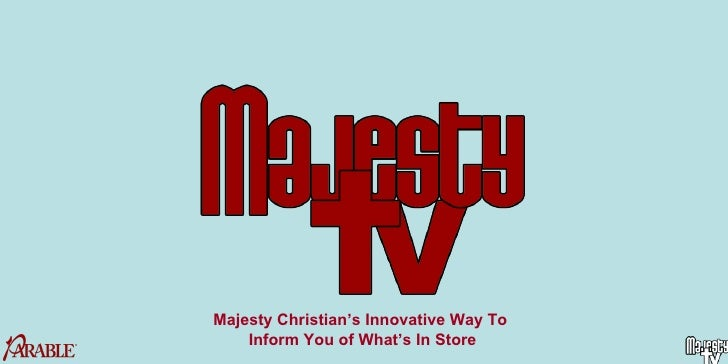 Majesty Christian's Innovative Way To  Inform You of What's In Store