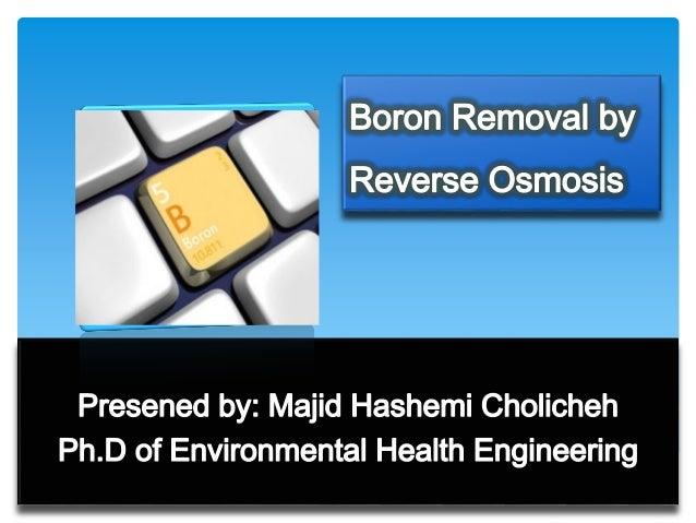 Majid Hashemi Boron Removal By Ro