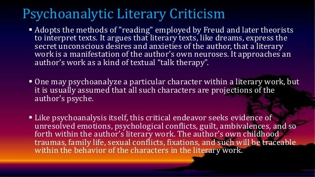 psychoanalytic criticism methods employed by freud