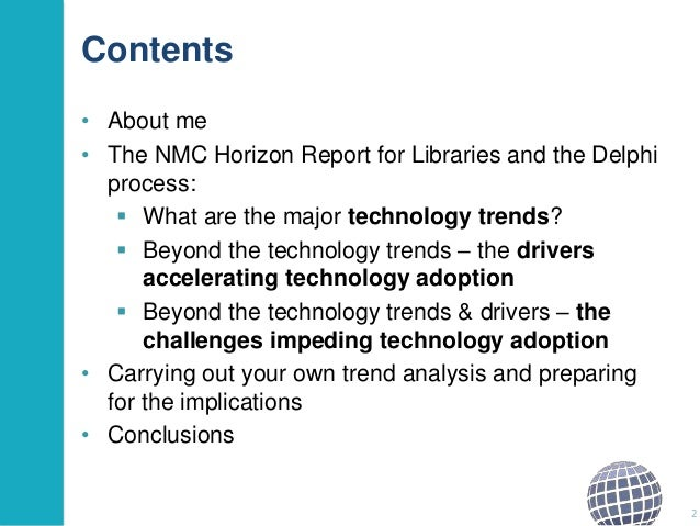 Major Technology Trends that will Impact Library Services? Slide 2