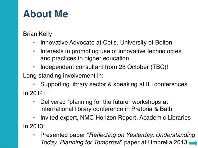 Major Technology Trends that will Impact Library Services? Slide 3