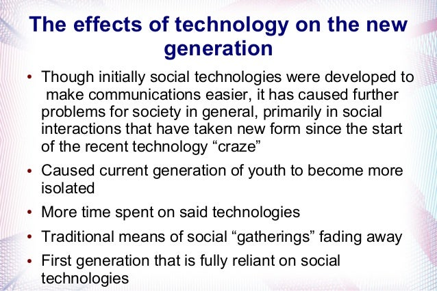 An essay on how technology impacted the society
