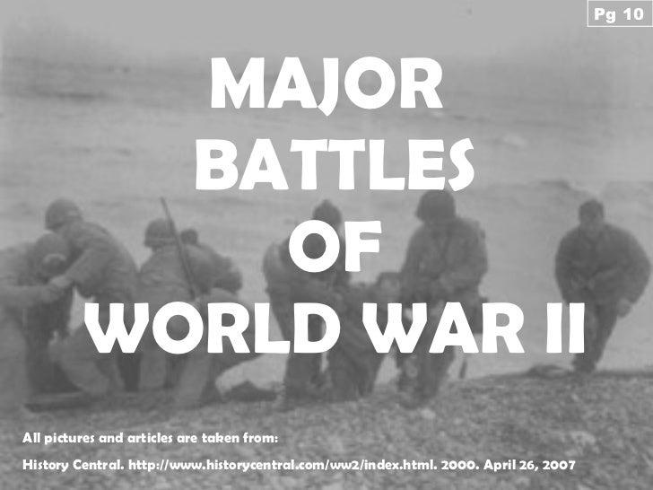 Major Battles Of WW2