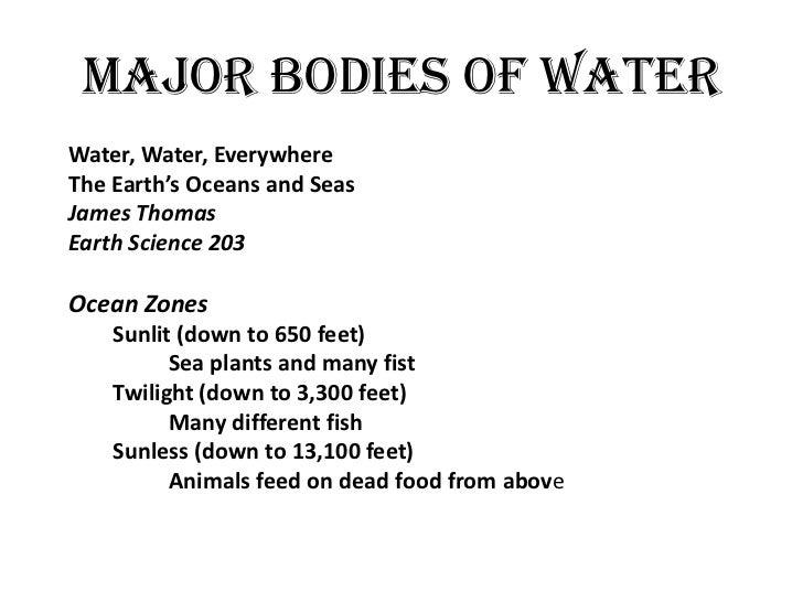 Major bodies of water