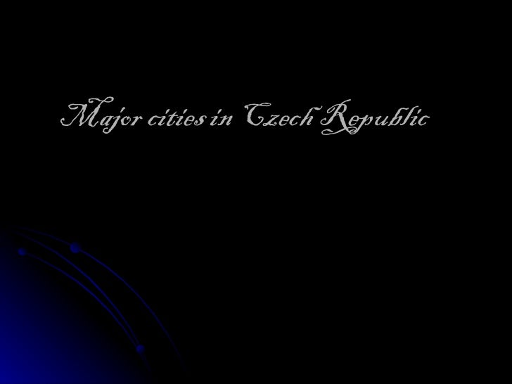 Major cities in Czech Republic