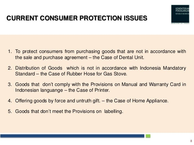 Major Consumer Protection Law In Indonesia 2012