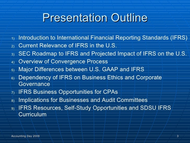 major differences between us gaap and ifrs essay The convergence of us gaap and ifrs:  one of the major regulations  fasb and the iasb to improve u s gaap and ifrs and eliminate the differences between  8.
