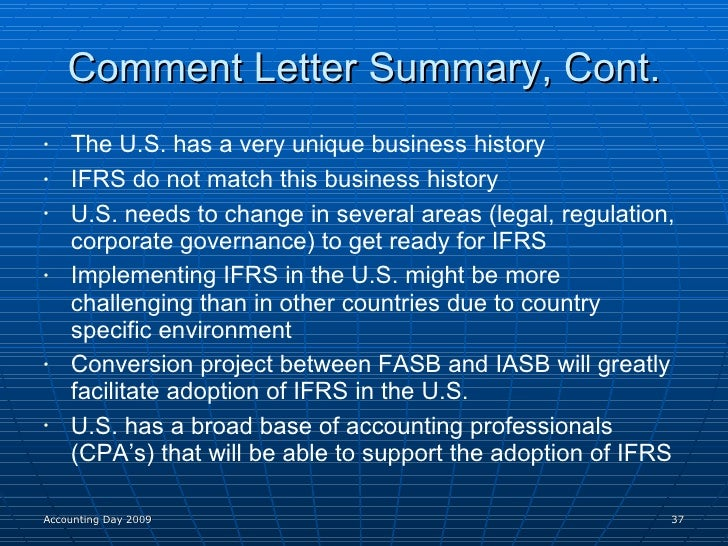ifrs adoption in the us 2012/7/13  convergence of international and us accounting principles and ifrs federal issues convergence of international and us accounting principles and ifrs.