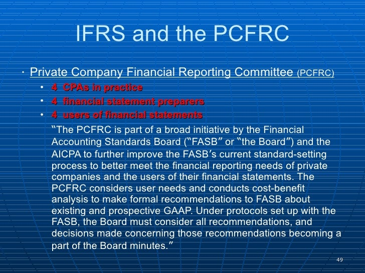 gaap and ifrs research paper