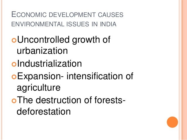 Economic Growth and Environmental Damage