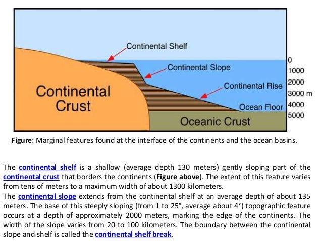 Major features of earth 39 s surface for Ocean floor features definition