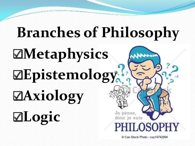 metaphysics epistemology axiology and logic Axiology is the philosophical study of human or absolute intellectual values it  can be resolved into the main philosophical fields of aesthetics.