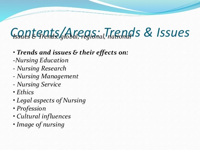 An analysis of the issues of nursing