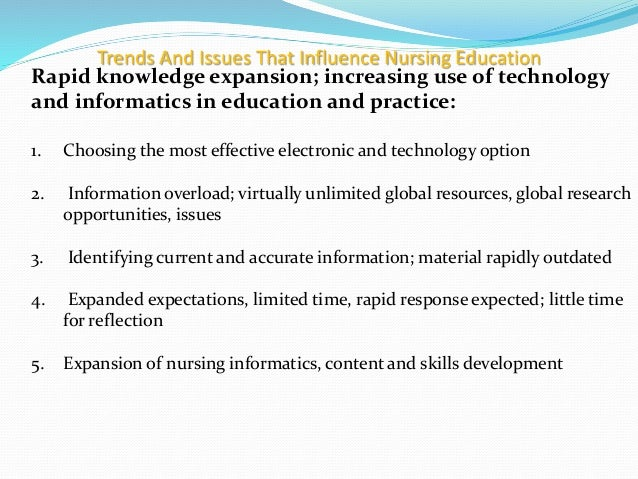trends in nursing research Trends and issues in nursing ram sharan mehta medical-surgical nursing department.