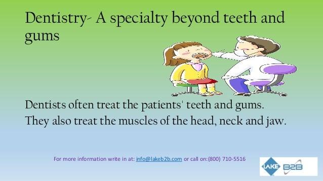 Major job responsibilities of dentist