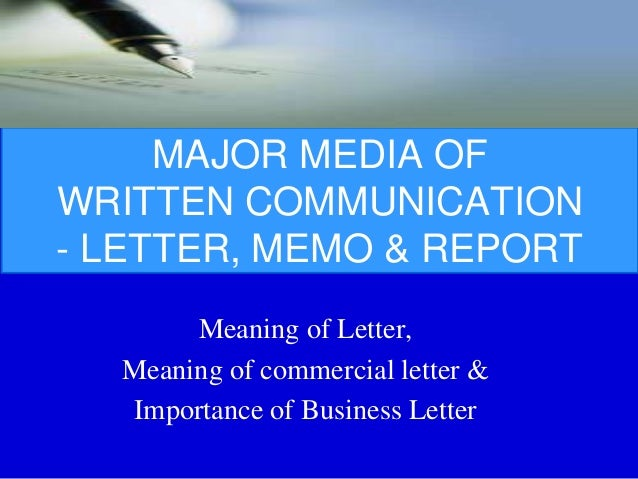 Meaning Of Commercial Letter Importance Business 3